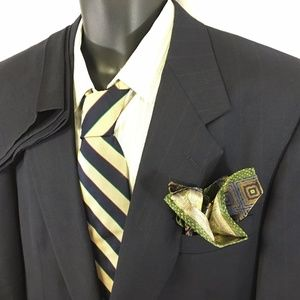 Austin Reed Mens London Suit Pinstripe Wool 43R